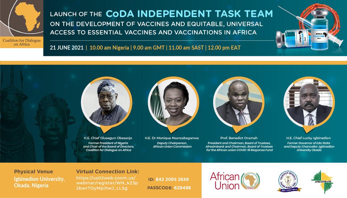 Flyer for launch of CoDA ITT